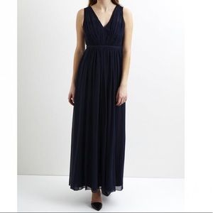 Vila Vicotina Maxi Dress Dark Blue size L NWT